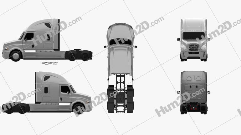 Freightliner Inspiration Caminhão trator 2015 Imagem Clipart