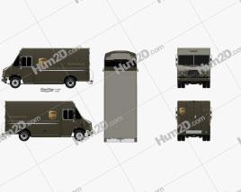 Freightliner P70D UPS Van 2006 Clipart