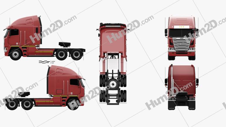 Freightliner Argosy Tractor Truck 2011 clipart