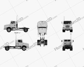 Freightliner FL112 Tractor Truck 2-axle 2003 clipart