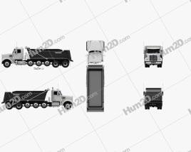 Freightliner 122SD SF Dump Truck 6-axle 2017 clipart