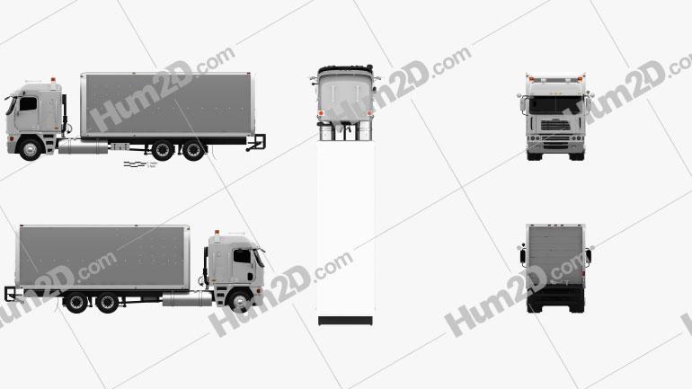 Freightliner Argosy Box Truck 2003 clipart