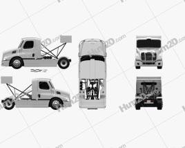 Freightliner Cascadia Race Truck 2017 Clipart
