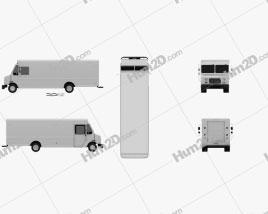 Freightliner MT-45 Van 2013 Clipart
