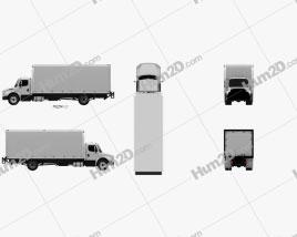 Freightliner M2 106 Box Truck 2012 clipart