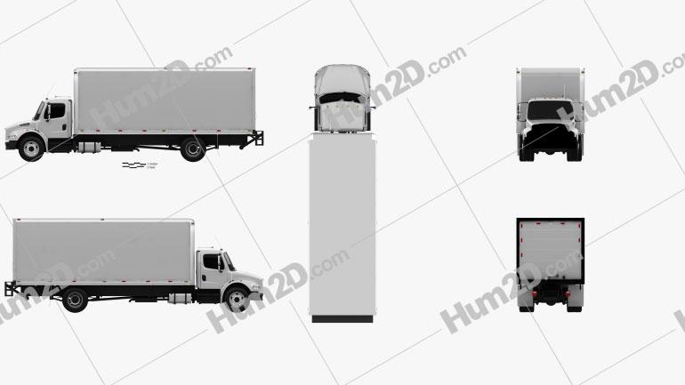 Freightliner M2 106 Caminhão Caixa 2012 Imagem Clipart