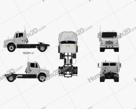 Freightliner FL70 Tractor Truck 2003 clipart