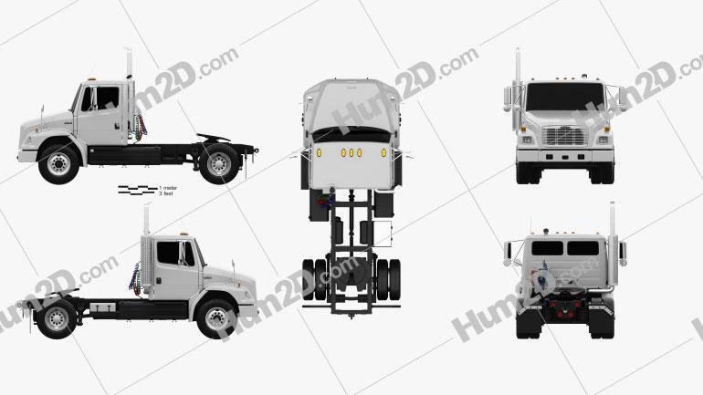 Freightliner FL70 Tractor Truck 2003 Clipart Image