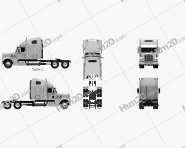 Freightliner Coronado Sleeper Cab Tractor Truck 2009 Clipart