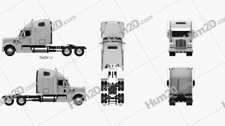 Freightliner Coronado Sleeper Cab Tractor Truck 2009 Clipart Image