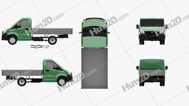 GAZ (GAZelle) Next Flatbed 2013 clipart