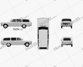 GAZ 24 Volga combi 1967 car clipart