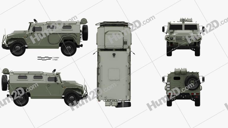GAZ Tiger-M 2011 Clipart
