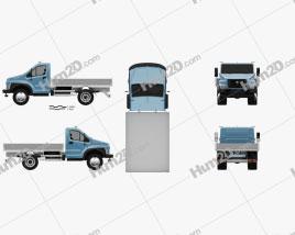 GAZ GAZon NEXT (C41R11) Flatbed Truck 2014 clipart