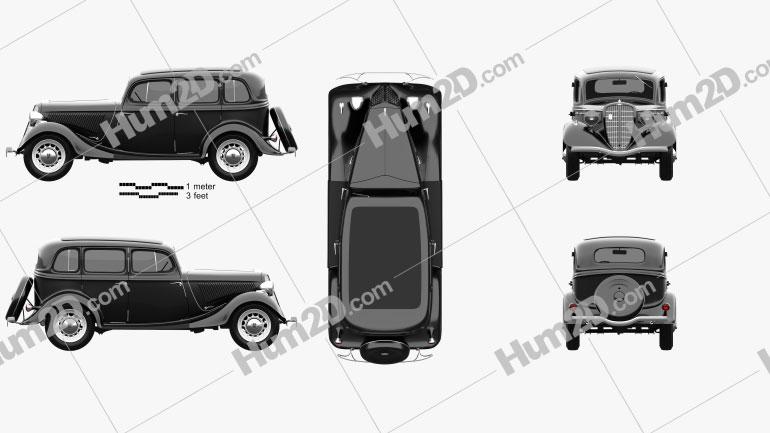 GAZ M1 1936 car clipart