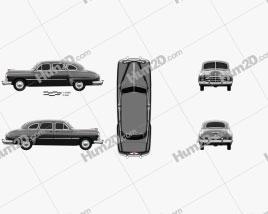 GAZ 12 ZIM 1950 car clipart