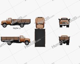GAZ 53 Flatbed Truck 1965