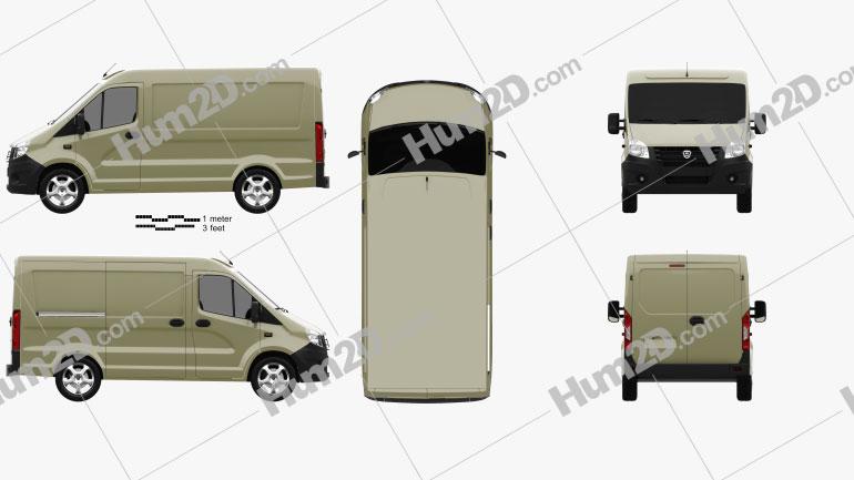 GAZ Sobol Next Panel Van 2013 clipart