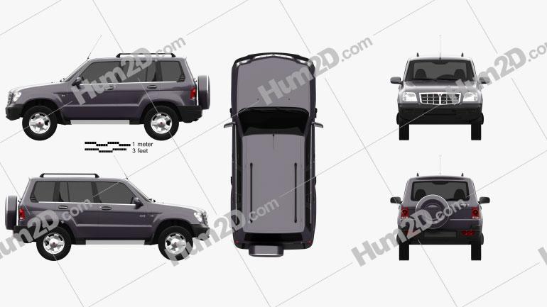 GAZ 3106 Ataman II 2004 car clipart