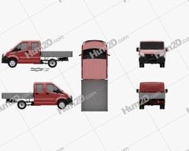 GAZ Gazelle Next Double Cab Flatbed Truck 2013