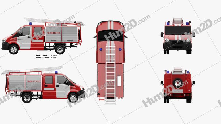 GAZ Gazelle Next Fire Truck 2017 clipart