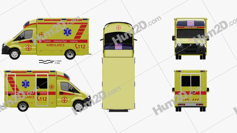 GAZ Gazelle Next Krankenwagen 2017 clipart