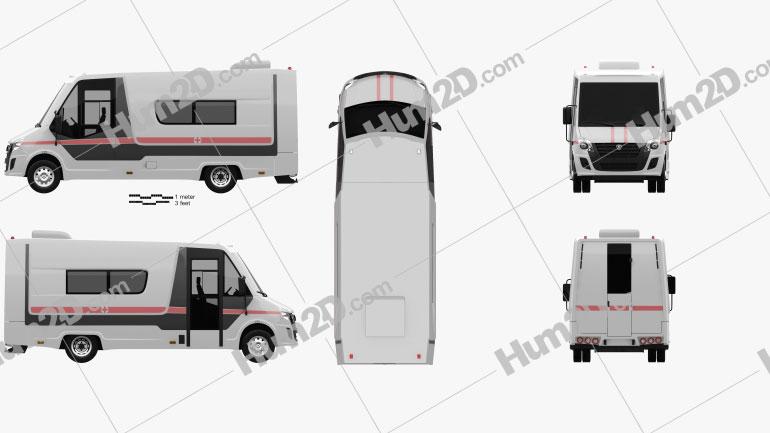 GAZ Gazelle Next Krankenwagen 2018 clipart