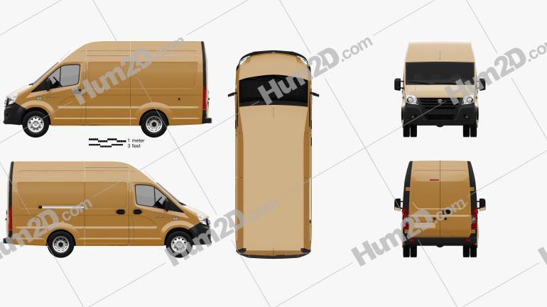 GAZ Gazelle Next Panel Van L1 2018 clipart