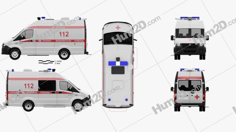 GAZ Gazelle Next Krankenwagen Luidor 2018 clipart