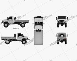 GAZ Sadko Next Flatbed Truck 2019 clipart