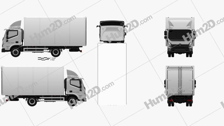 GAZ Valdai NEXT Box Truck 2020 clipart