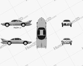 GM Firebird II 1956 car clipart