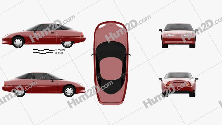 GM EV1 1996 car clipart