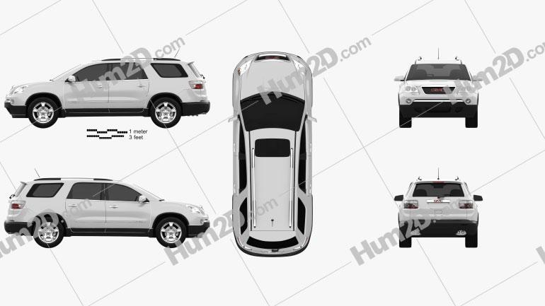 GMC Acadia 2011 car clipart