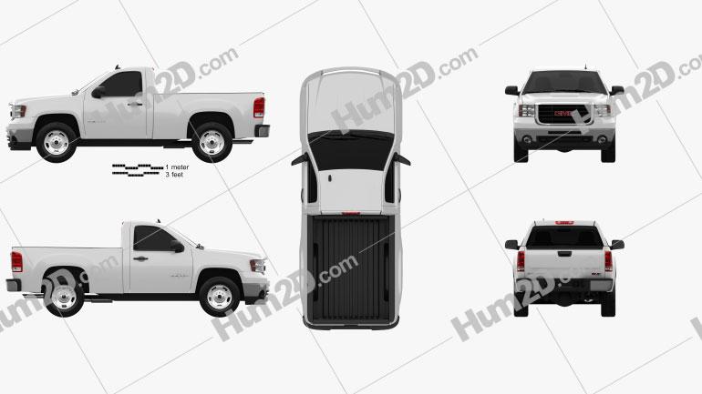 GMC Sierra Regular Cab Standard Box 2011 car clipart