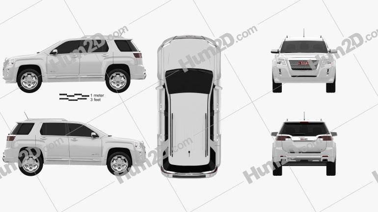 GMC Terrain 2010 car clipart