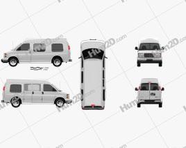 GMC Savana Cargo Van YF7 Upfitter 1997 clipart
