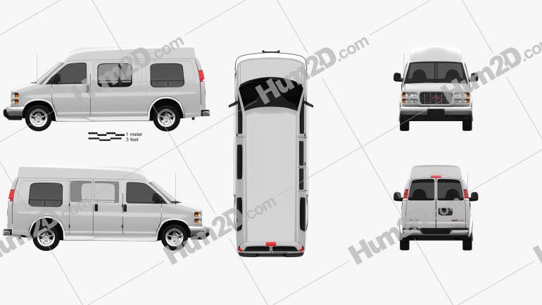 GMC Savana Cargo Van YF7 Upfitter 1997