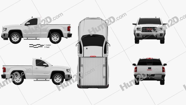 GMC Sierra Einzelkabine 2013 car clipart