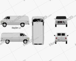 GMC Vandura Panel Van 1992 clipart