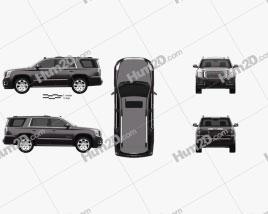 GMC Yukon Denali 2014 car clipart