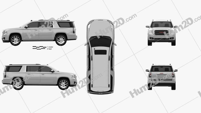 GMC Yukon XL 2014 car clipart