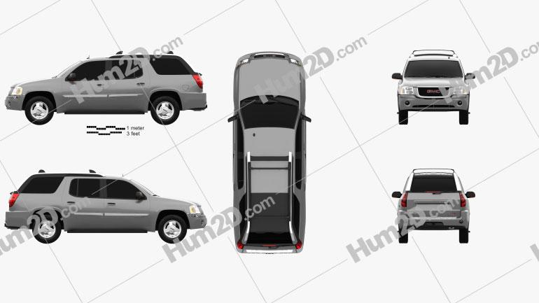 GMC Envoy XUV 2004 car clipart