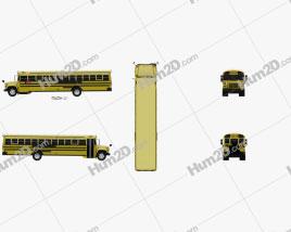 GMC B-Series Ônibus escolar 2000 clipart