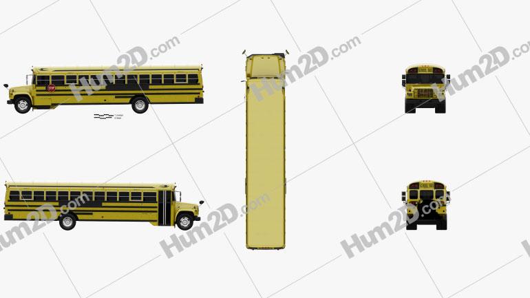 GMC B-Series School Bus 2000