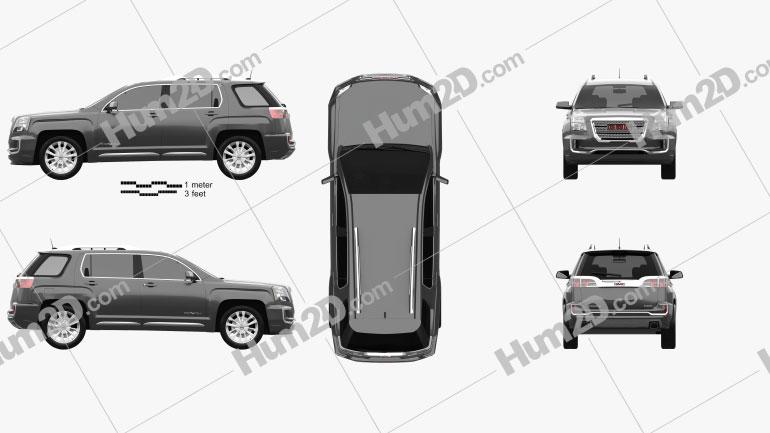 GMC Terrain Denali 2016 car clipart