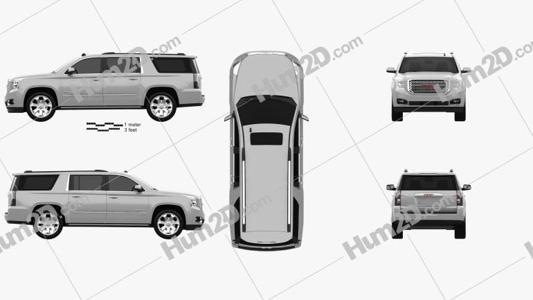 GMC Yukon XL Denali 2014 car clipart