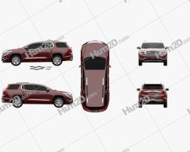 GMC Acadia Denali 2017 car clipart