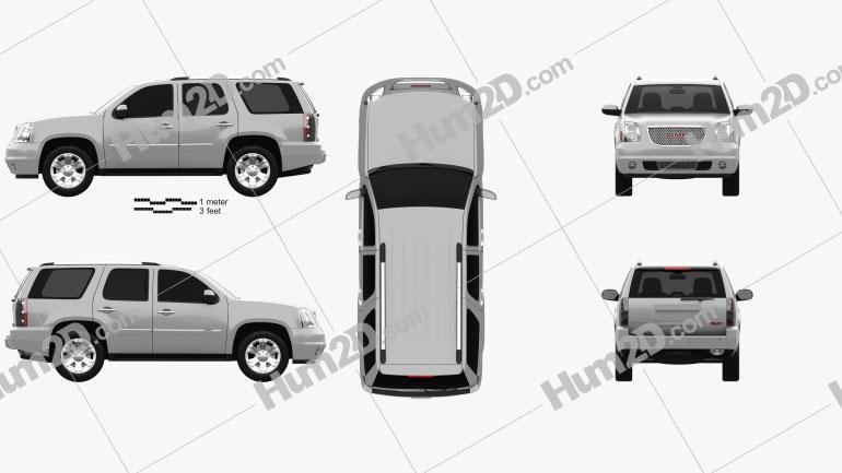 GMC Yukon Denali 2012 car clipart