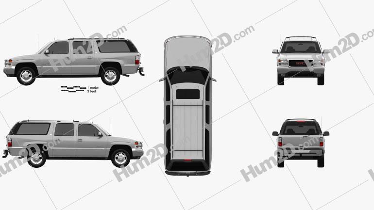 GMC Yukon XL 2000 car clipart